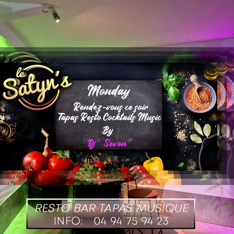 Monday - Rendez vous ce soir Tapas Resto Cocktails Music
